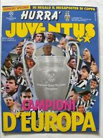 HURRA' JUVENTUS N.6 GIUGNO 1996 +POSTER CHAMPIONS LEAGUE VITTORIA COPPA CAMPIONI