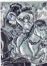 Cryptozoic DC Comics Bombshells Sketch Card Wonder Woman by Jucylande Jr.