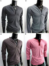 Henley Regular Size Button Down Casual Shirts & Tops for Men