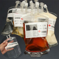 5pcs Halloween Party Food Energy Drink Props Reusable Vampire Blood Bag Bottle
