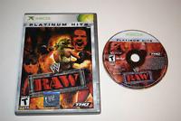 WWF RAW Platinum Hits Microsoft Xbox Game Disc w/ Case