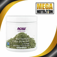 NOW Foods Solutions European Clay Pure Powder 170g   Face Facial Cleanser