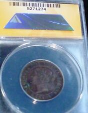 CANADA 1858 ONE CENT - details  ANACS  EF 40