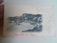 Vintage Postcard STEEP HILL COVE, VENTNOR Franked+Stamped 1906