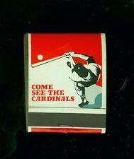 1970 St. Louis Cardinals baseball matchbook schedule (Mint, unused)