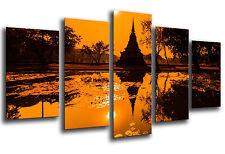 Cuadro Moderno Fotografico Paisaje Buda Buddha base madera,145 x 62cm ref. 26240