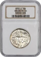 1938-D Oregon 50c NGC MS66 - Low Mintage Issue - Silver Classic Commemorative