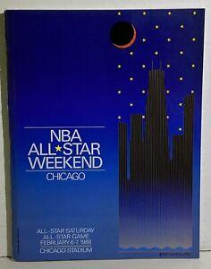 1988 NBA ALL Star Weekend Program Chicago Jordan MVP
