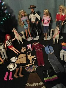 Beautiful Barbie, Ken, Animals, Shoes, Clothes And Accessories