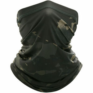 Elastic Tube Bandana Face Mask Cooling Cover Multi-Use Camo Scarf Neck Gaiter LO