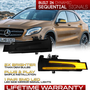 [SEQUENTIAL]Amber Signal LED Side Mirror Light For Benz W204 W212 W231 C117 C257