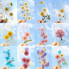 Unique Handmade Dried Pressed Natural Fresh Flower Case Cover For iPhone Samsung