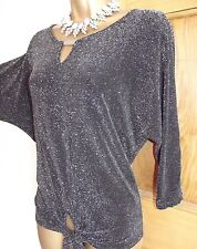 Gorgeous ❤ BNWT Shimmering silver black evening Party Wallis Top size M 12 14
