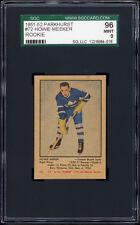 1951-52 Parkhurst #72 Howie Meeker RC (HOF, Toronto Maple Leafs) SGC 96 MINT