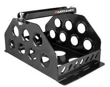 Motamec Std Size Alloy Car Battery Tray Aluminium Box Holder Black Powder Coated