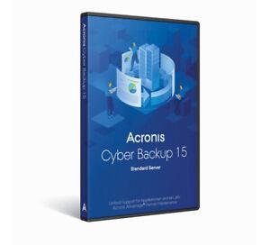Acronis Cyber Backup 15 Standard Server (B1WZBPDES), AAP, DE, PC Win/Linux, Box