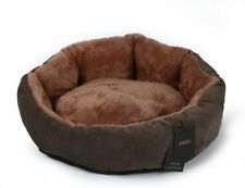 Fmzg Round Pet Bed For Cats and Dogs, Oval Plush Soft Warm/Washable Premium