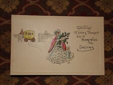 Vintage Postcard Greeting! A Loving Thought And A Merry Wish For Christmas