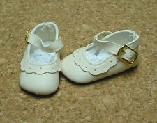Doll Shoes, 64mm CREAM Classic Ankle Straps fit MSD, BJDs, Kish 4 seasons