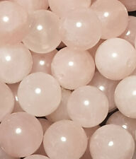 25 x 10mm Rose Quartz Gemstone Beads For Jewellery Making