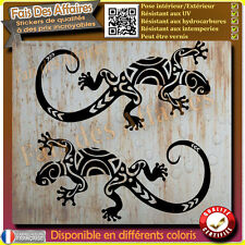 2 stickers autocollant gecko salamandre lézard maori tribal sticker deco decal