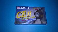 Cassette audio EMTEC CHROME CE II 100 minuti lotto 10 musicassette vergini TAPE