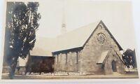 ".c1930s MURRAY STUDIOS REAL PHOTO POSTCARD. ""ST MARKS CHURCH, WARWICK QLD"""