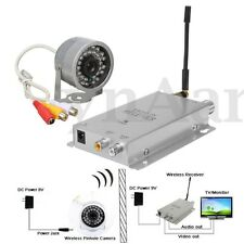 1.2G Wireless Camera Video AV Receiver Audio CCTV LED Color IR Home Security US
