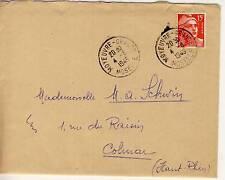 LETTRE TYPE GANDON MOSELLLE MOYEUVRE GRANDE  / COLMAR 1948