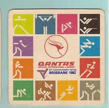 #KK.   #7.  QANTAS / 1982 BRISBANE COMMONWEALTH GAMES BEER COASTER