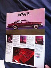 1975 Chevy Chevrolet Nova SS LN Original Brochure Prospekt