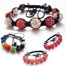 Small Size Czech Crystal Shamballa Bracelet Child/'s Kid/'s Childrens Girl/'s Peach
