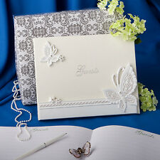 Butterfly Design Guest Book Signature Wedding Accessory Set NIB