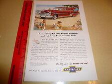 Chevrolet Styleline De Luxe Sedan - Ad Advertisement - Vintage