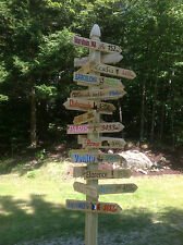 20 Hand painted sign directional arrow signs w/mileage ex:key west-south beach
