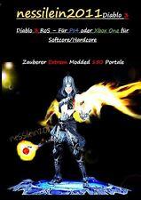 Diablo 3 PS4/Xbox One - Zauberer/Wizard 150 Portale 100% Unsterblich/Immortal