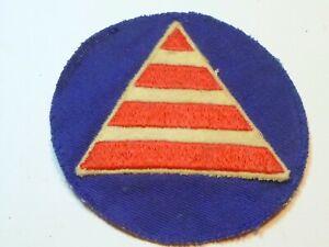A  Early WW 2 U S Army Civil Defense Air Warden Felt on Twill CC/B Patch