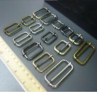 Metal Sliding Bar Strap Adjuster Buckles Slider 20mm 25mm 32mm 38mm 50mm