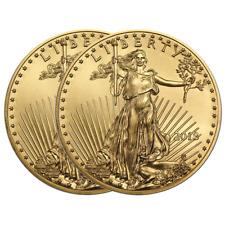 Lot of 2 - 2018 $10 American Gold Eagle 1/4 oz Brilliant Uncirculated