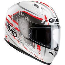 HJC FG-17 Full Face Motorbike Motorcycle Helmet Graphic Road Legal Strike Red S