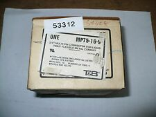 "Thomas & Betts MP75-16-9 3/4"" Multi-Pin Connector For Conduit, New"