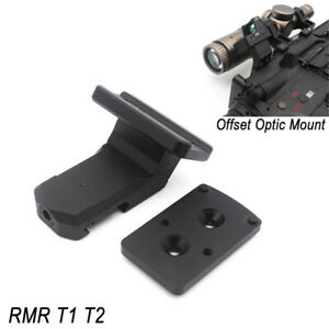 OFFSET OPTIC MOUNT for Red Dot Sights Micro T1 T2 H1 H2 RMR SRO SIG Romeo 5