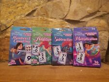 Disney Princess Math Learning Cards.  SET OF 4. NEW