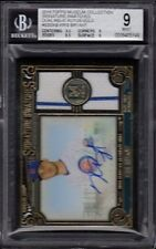 2016 Kris Bryant Topps Museum Collection Dual Relic Autos Gold /25 BGS 9 Mint