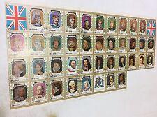 UMM AL QIWAIN 1971 King & Queens of England 38 Stamp Sheet C.T.O