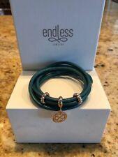 "Endless Jewelry Turquoise Leather Bracelet Double 7.0"" w/ Bonus New - Free Ship"