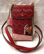 Kate Spade New York  X Tom & Jerry Phone Crossbody iPhone Case 8ARU6637 RED NWT