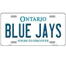 "Toronto Blue Jays Ontario State Background Novelty Metal License Plate 6"" x 12"""