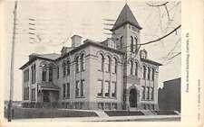 Carlisle Pennsylvania School Bldg Street View Antique Postcard K52324