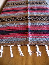 True Grit Falsa Onwt-Brwn/Maroon Southwest Southwestern Serape Blanket Afghan